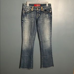 Guess embellished boot cut jeans